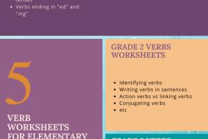 Verb Worksheets for Elementary School