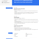 Web Application Developer Resume 3