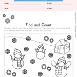Winter Find and Count Worksheet