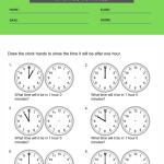 clock worksheets grade 1 2