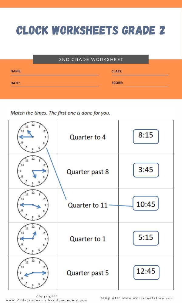 clock worksheets grade 2 4