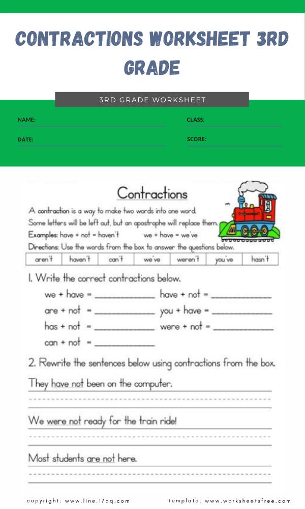 contractions worksheet 3rd grade 4contractions worksheet 3rd grade 4