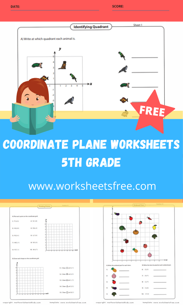 coordinate plane worksheets 5th grade