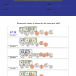 first grade money worksheets 1