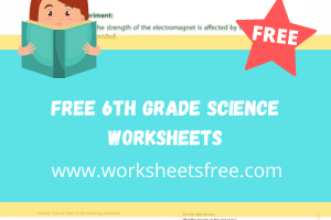 free 6th grade science worksheets