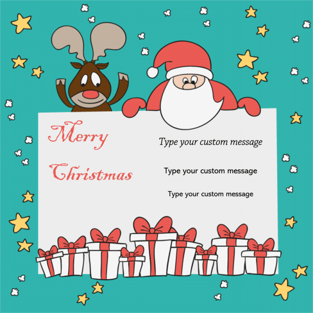 Christmas Card Template 03