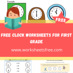free clock worksheets for first grade