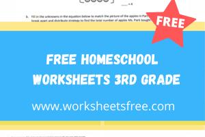 free homeschool worksheets 3rd grade