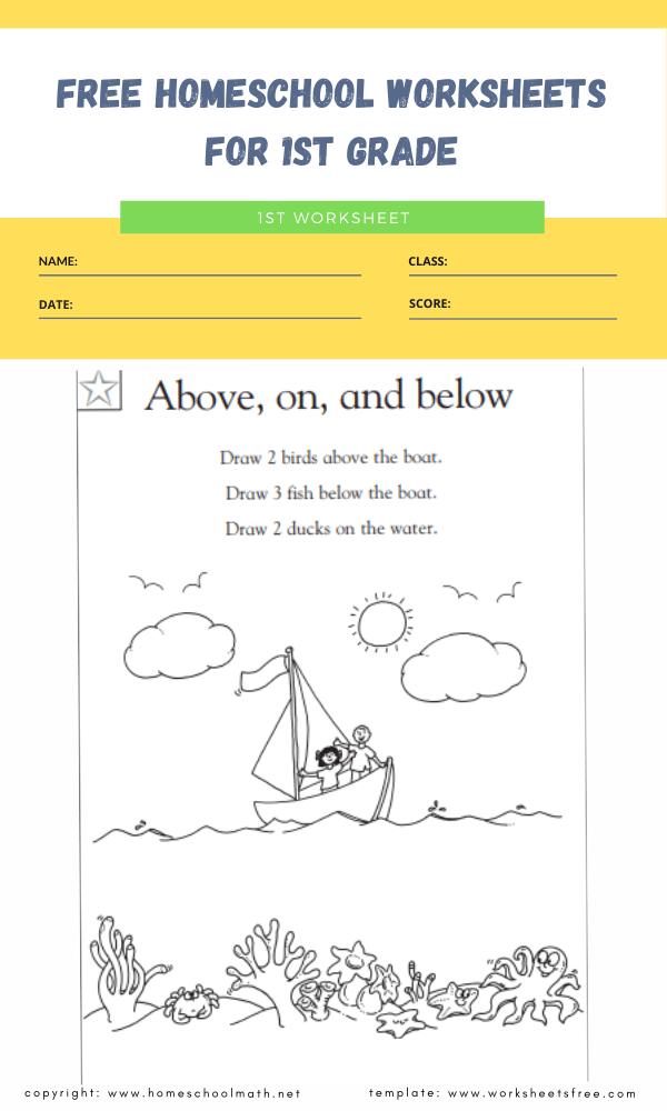 free homeschool worksheets for 1st grade 4