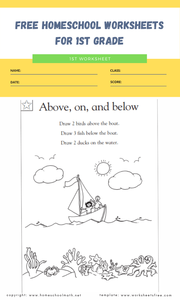 free homeschool worksheets for 1st grade 4