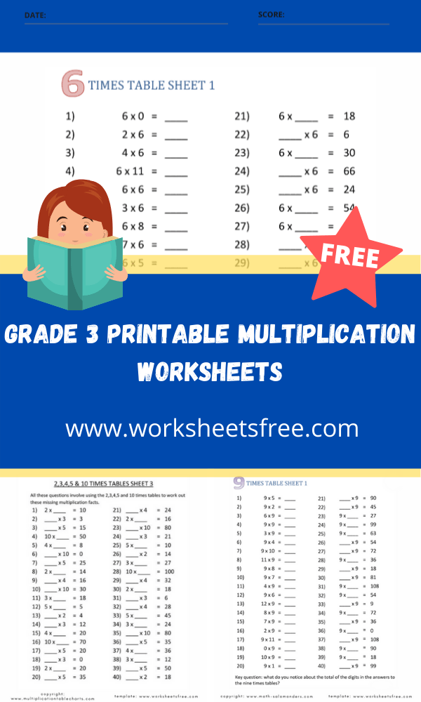 grade 3 printable multiplication worksheets