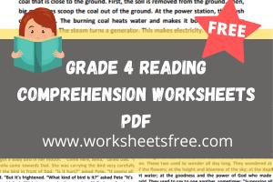 grade 4 reading comprehension worksheets pdf