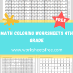 math coloring worksheets 4th grade