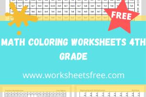 math coloring worksheets 4th grade