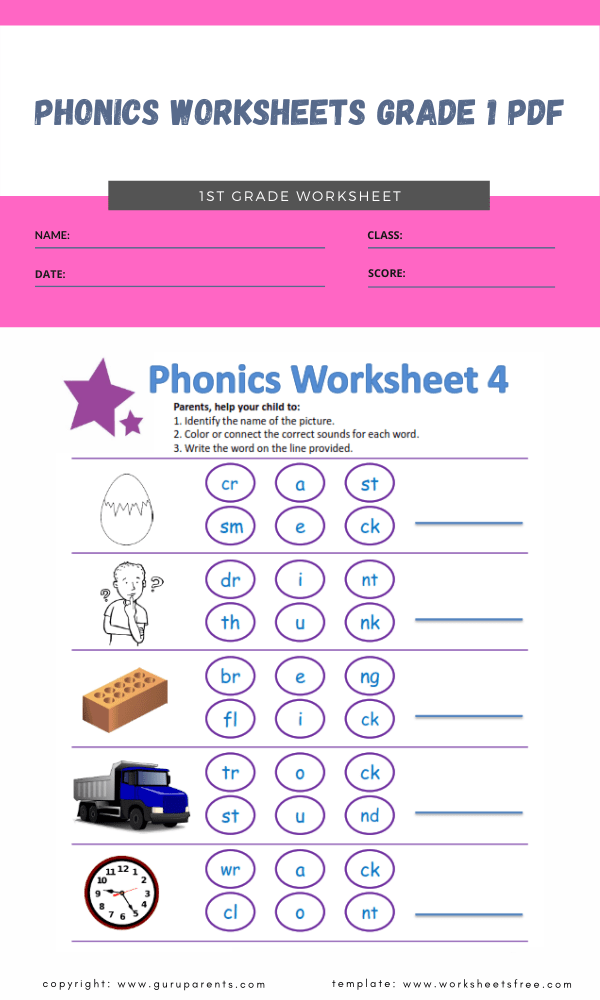 phonics worksheets grade 1 pdf 4
