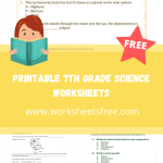 printable 7th grade science worksheets