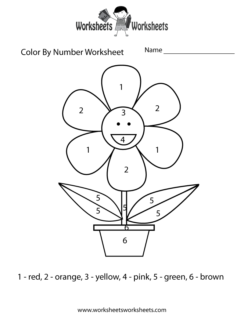 Color By Number Free Worksheets butterfly fishbowl easy – Educational Worksheets