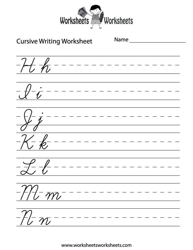 Free Worksheet Free Make Your Own Handwriting Worksheets cursive writing templates j tattoo and alphabet french handwriting worksheets narrativamente