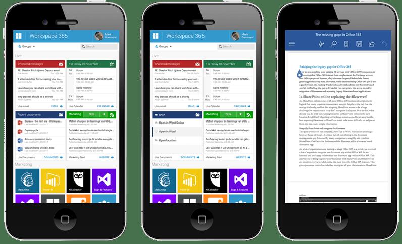 Update 2.52: Mobiele werkplek ervaring