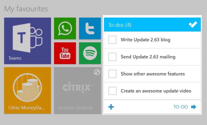 Update 2.63: To-Do tegel, download bijlagen en meer vanaf jouw dashboard