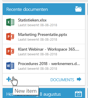 documenten live tile workspace 365