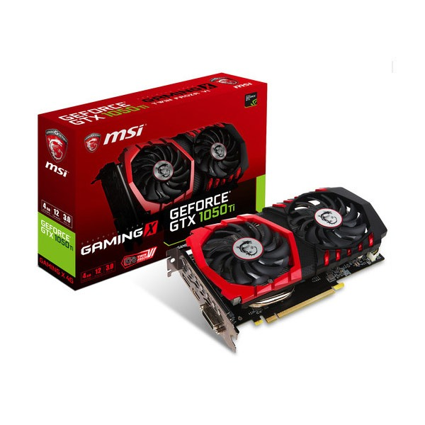 MSI GeForce GTX 1050 Ti GAMING X 4G CARTE GRAPHIQUE