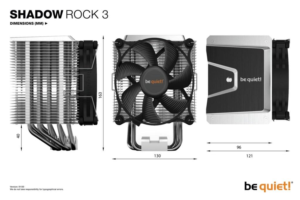 BE QUIET Pure Rock 3 BK004 SPECS