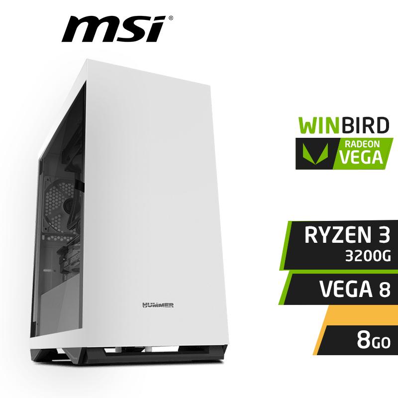 WINBIRD RYZEN 3 3200G 8GB RX VEGA 8 SSD 120Go 1To