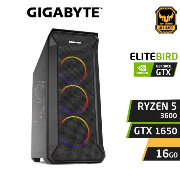 PC GAMER ELITEBIRD RYZEN 5 3600 16GB Nvidia GTX 1650 4GB SSD 120Go 1To