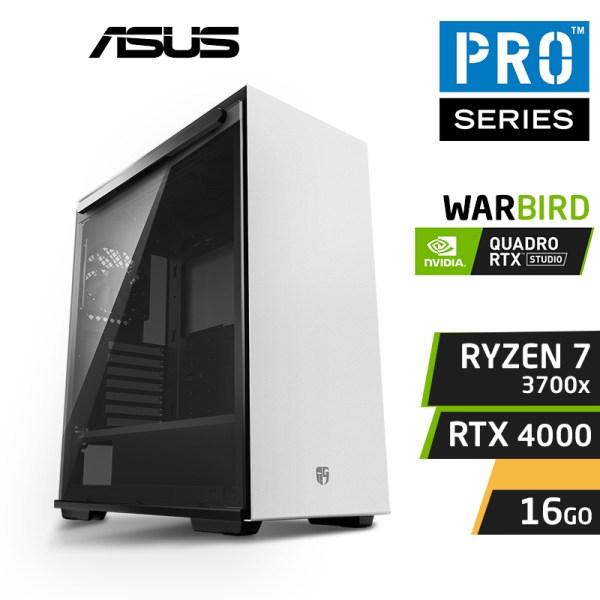 pro workstation WARBIRD PRO 3700X 16x4.6GHz 16Go RTX 4000