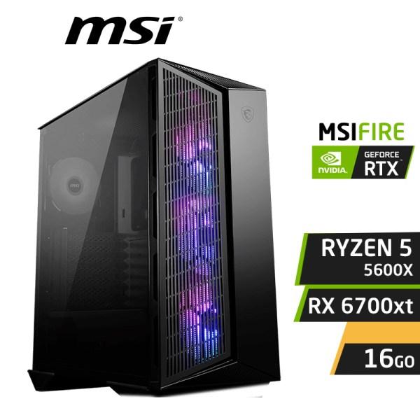 MSIFIRE RYZEN 5 5600x 16GB RX 6700 XT