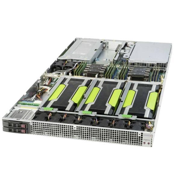HPC-r2280-U1-G4 rackmount gpu compute server inside front right