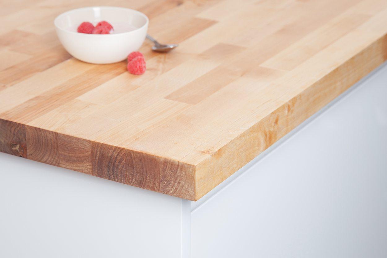 Birch Worktop 2m X 960mm X 40mm Solid Birch Countertop Birch Kitchen Work Surface Square Edge Worktop Worktop Express