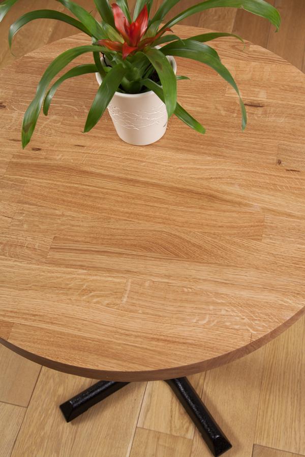 Solid Oak Restaurant Tabletop Round 40mm