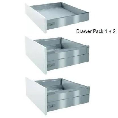 Kitchen Cabinet Drawer Pack 1 + 2 Pan Drawer