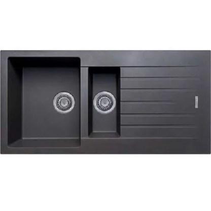 Kitchen Sink Black Granite 1.5B & Drainer