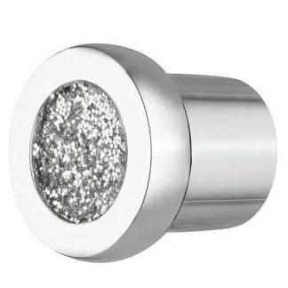Knob, Zinc Alloy, Ø 24 mm, Glitter