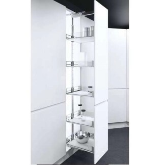 Pull Out Larder Unit Glass Sided Wire Baskets