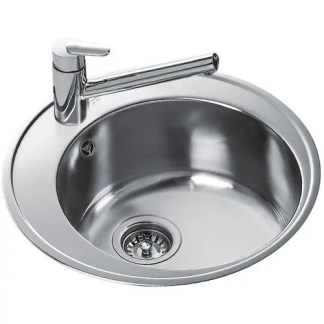 Round Bowl Inset Sink Teka Centroval 45 St-Steel