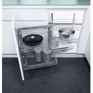 Wire Baskets Corner Storage Swing Out 900mm