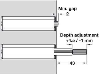 push Catch For Cabinet Doors 1