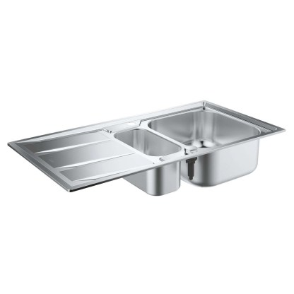 Stainless Steel Sink, 1.5 Bowl Grohe K400 1