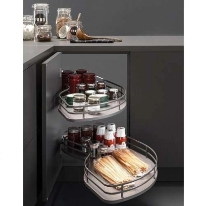 Corner Pull Out Shelving Unit Anthracite LH