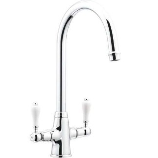 Mixer Tap Dual Lever Country Swan Neck