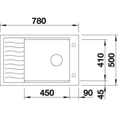 Granite Sink Blanco Elon xl 6 s-size