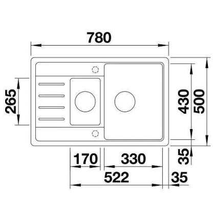 Granite Sink Blanco Legra 6 S Compact-size