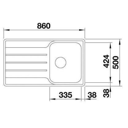 Single Bowl Sink Lemis 45 S-IF-size