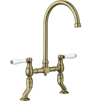 Bridge Tap Blanco Vicus Brushed Brass