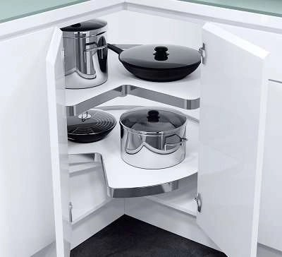 Carousel for Corner Cabinets VS COR Wheel Pro Grey