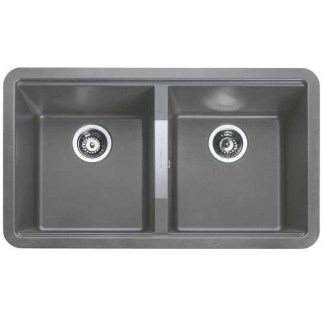 Grey undermount Sink Double Bowl Paragon Igneous